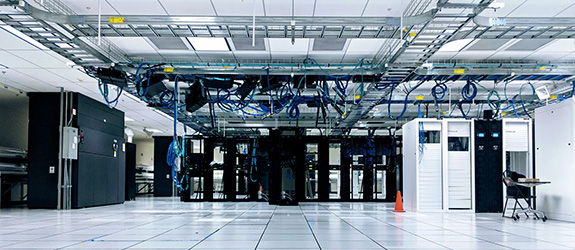 server room for telecommunications company